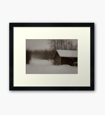 Building for a white Christmas Framed Print