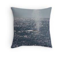 Whale spout Throw Pillow
