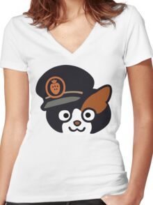 Station Master Tama Women's Fitted V-Neck T-Shirt