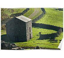Field barn in Cumbria. Poster