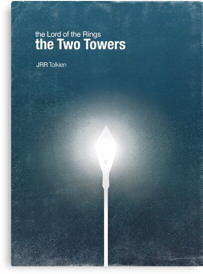 """""""The Two Towers"""" - minimalist poster design by J PH"""