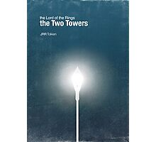 """The Two Towers"" - minimalist poster design Photographic Print"