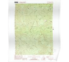 USGS Topo Map Oregon Reynolds Ridge 281255 1989 24000 Poster