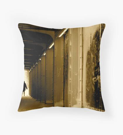 Train Art Chicago Throw Pillow