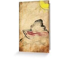 paint by hand  Greeting Card
