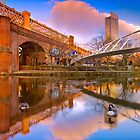 Merchants Bridge - Manchester, England by Yen Baet