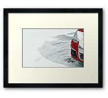 Blizzard 2011 - Drifting Framed Print