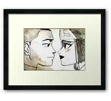Sokka and Suki Framed Print