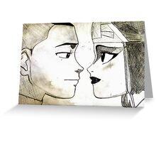 Sokka and Suki Greeting Card