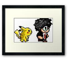 Retro Harry and Pikachu Framed Print