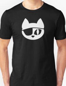 Pirate Cat White Unisex T-Shirt