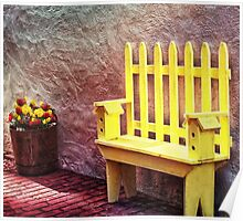 The Bird House Bench Poster