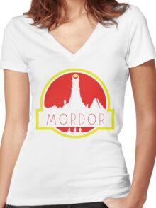 Mordor Park Women's Fitted V-Neck T-Shirt
