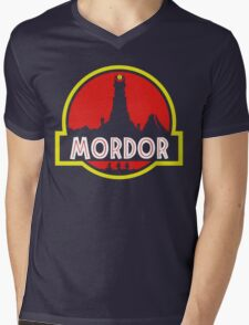 Mordor Park Mens V-Neck T-Shirt