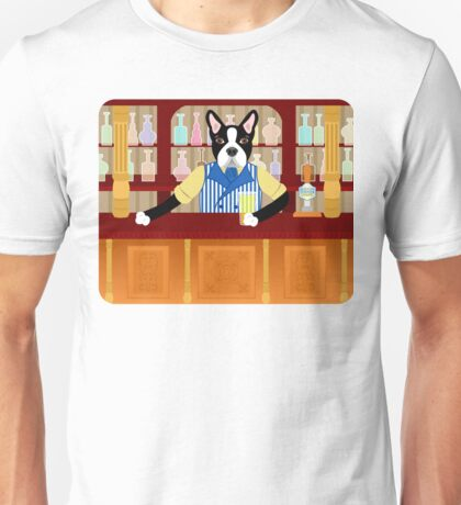 Boston Terrier Beer Pub Unisex T-Shirt