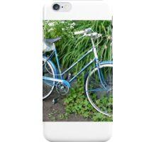 Ladies Bicycle in Flowers iPhone Case/Skin