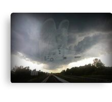 DEAR ANGEL PROTECT AND GUIDE OUR TRUCKERS..ALWAYS BRING THEM SAFELY HOME AMEN-PICTURE,JOURNAL,BOOKS,PILLOWS,TOTE BAGS,TEE SHIRTS,ECT. Canvas Print