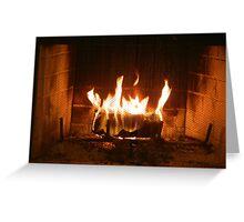 Warming Flames Greeting Card