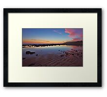 Rippled Dawn Framed Print
