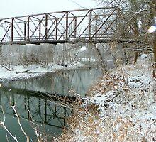 One Lane Steel Bridge, Fayetteville Arkansas U.S.A. by David  Hughes