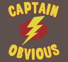 Captain Obvious T Shirt One Piece - Short Sleeve