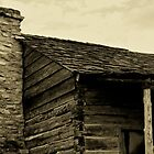 This Old Cabin - Log cabin in Anderson, Texas by Betty Northcutt