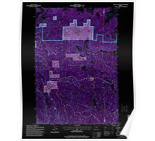 USGS Topo Map Oregon Matlock Prairie 280657 1995 24000 Inverted Poster