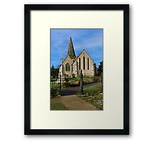 All Saints Welcome Framed Print