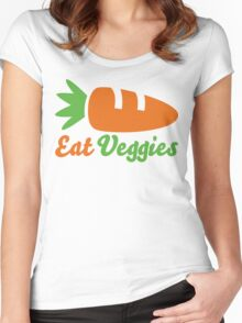 Eat Veggies Women's Fitted Scoop T-Shirt