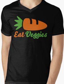 Eat Veggies Mens V-Neck T-Shirt