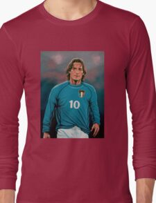 Francesco Totti Italia painting Long Sleeve T-Shirt