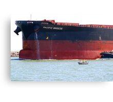 Coal ship Pacific Breeze - Newcastle Harbour NSW Australia Canvas Print