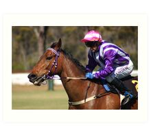 Horse Racing at Mount Barker, Western Australia Art Print