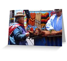 Market Day, Copacabana, Bolivia Greeting Card