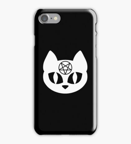 Pentagram Cat White iPhone Case/Skin
