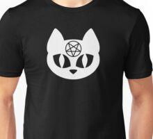 Pentagram Cat White Unisex T-Shirt