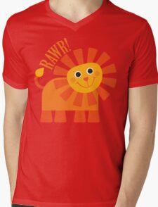 Rawr Lion Mens V-Neck T-Shirt
