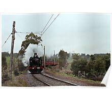 1970s K 190 under steam near Eltham with excursion train Poster