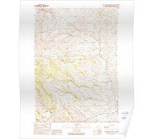 USGS Topo Map Oregon Clover Creek Ranch 279378 1990 24000 Poster