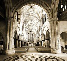 Boxgrove Priory - Sepia by Dave Godden