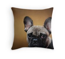 I'm tired of smiling! Throw Pillow