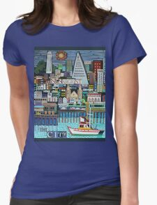 The City Womens Fitted T-Shirt
