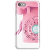 call me (pink) iPhone Case/Skin