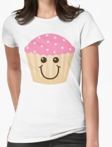 Pink Frosting Cupcake Womens Fitted T-Shirt