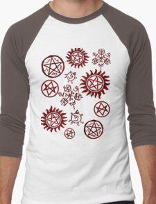 Supernatural Sigils Men's Baseball ¾ T-Shirt
