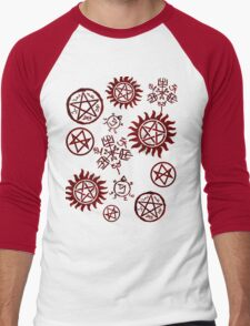 Supernatural Sigils Men's Baseball ¾ T-Shirt
