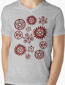 Supernatural Sigils Mens V-Neck T-Shirt