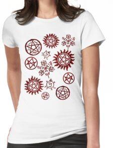 Supernatural Sigils Womens Fitted T-Shirt