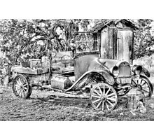 poor old T ? Chevy ? Photographic Print