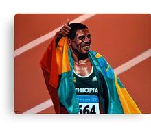 Haile Gebrselassie painting Canvas Print